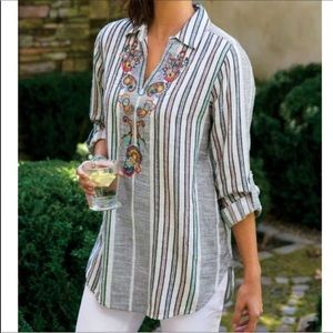 Soft surroundings embroidered tunic